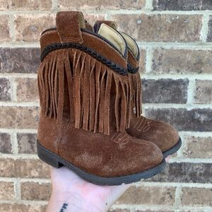 Smoky Mountain Boots Hopalong Fringe Suede Boots 7